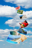 Photos of holiday on blue sky. Royalty Free Stock Photography