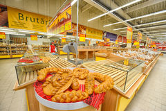 Photos at Hypermarket Auchan grand opening Royalty Free Stock Photography