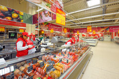 Photos at Hypermarket Auchan grand opening Stock Photo