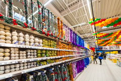 Photos at Hypermarket Carrefour Royalty Free Stock Photography