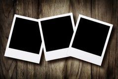 Photos instantanées blanc Photographie stock libre de droits