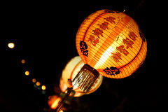 Photos lamp. A photo lamp lights adorn the Thailand-Chinese beliefs held sacred thread embellished in various places Royalty Free Stock Photo