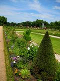 Photos with landscape background of a Park landscape in Europe. Photo of summer landscape background traditional architectural and Park landscape in Europe with royalty free stock photo