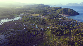 Photos landscape of the Philippine Islands. Aerial view Royalty Free Stock Photo