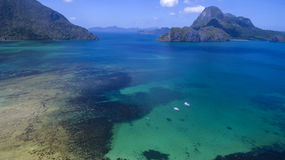 Photos landscape of the Philippine Islands. Aerial view Stock Image