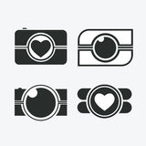 Photos Logo. Camera, logo vector set. Trendy Hipster camera. pho Royalty Free Stock Photo