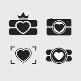 Photos Logo. Camera, logo vector set. Trendy Hipster camera. pho Stock Images