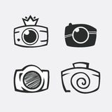 Photos Logo. Camera, logo vector set. Trendy Hipster camera. Stock Images