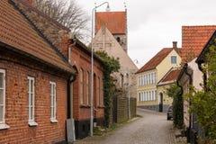 Simrishamn tour of the old town Stock Photos