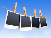 Photos On Clothesline Royalty Free Stock Image