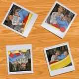 photos polaroïd des enfants Images stock