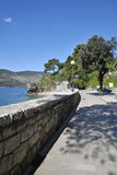 Photos promenade in Herceg Novi. Royalty Free Stock Images