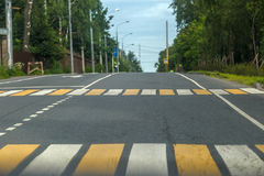 Photos road with pedestrian zebra Royalty Free Stock Image