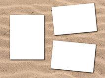Photos with sandy beach background Stock Photo