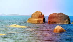 Photos sea landscape with waves Stock Photography