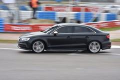 Car motosport photos. This photos show cars racing on a local street racing circuit stock photos