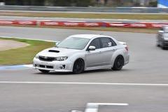 Car motosport photos. This photos show cars racing on a local street racing circuit royalty free stock image