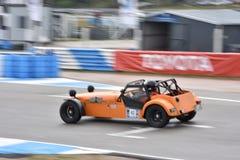 Car motosport photos. This photos show cars racing on a local street racing circuit royalty free stock photos