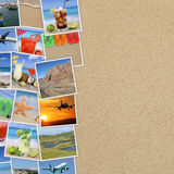 Photos from summer vacation, beach, drinks, traveling, holiday a Royalty Free Stock Image