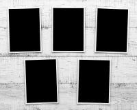 Photos sur le fond en bois Images libres de droits