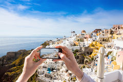 Photos from a trip to Santorini Stock Image