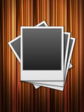 Photos wooden background. Photos on a wooden background Royalty Free Stock Photo