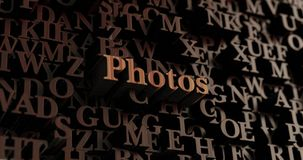 Photos - Wooden 3D rendered letters/message Royalty Free Stock Photos