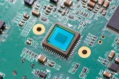 Photosensitive sensor on PCB Royalty Free Stock Photography