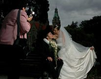 Photosession di cerimonia nuziale Fotografia Stock