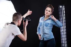 Photosession for fashion magazine Royalty Free Stock Photography
