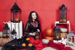 Photosession on Halloween Stock Photography