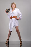 Photosession of young pretty woman Royalty Free Stock Photos