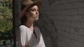 Photoshoot beautiful model girl stock video footage
