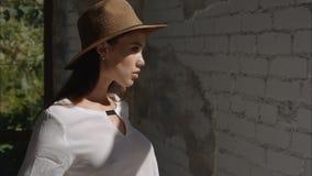 Photoshoot beautiful model girl stock footage