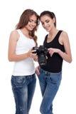 Photoshoot con un modelo Foto de archivo libre de regalías