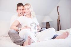 Photoshooting de maternidade Fotos de Stock Royalty Free