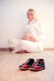 Photoshooting de maternidade Imagens de Stock