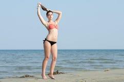 Photoshooting de un ganador del concurso de belleza fotos de archivo libres de regalías