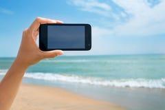 Photoshooting on smartphone Royalty Free Stock Photography