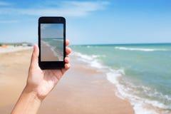Photoshooting on smartphone Royalty Free Stock Image