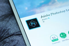 Photoshop APP mobile d'Adobe Images libres de droits