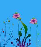 Photoshop flowers Royalty Free Stock Image