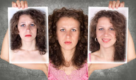 Before and after. Photoshop retouch Stock Photography