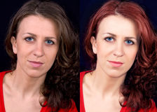Before and after. Photoshop retouch Stock Photo