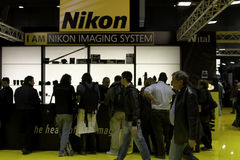 Photoshow 2011, nikon pavilion Royalty Free Stock Photo