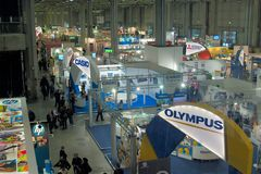 Photoshow 2011, view of stands in fair Royalty Free Stock Image