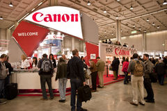 Photoshow: Canon stand Royalty Free Stock Images