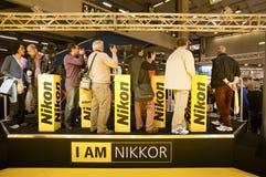 Photoshow: De tribune van Nikon stock foto's
