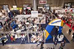 Photoshow: Olympus stand Royalty Free Stock Photo