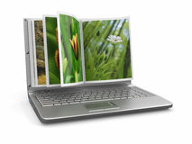 Photoviewer. Photo album as laptop screen Stock Photography